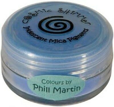 PHIL MARTIN Cosmic Shimmer IRIDESCENT MICA PIGMENTS POWDER 10ml GRACEFUL BLUE