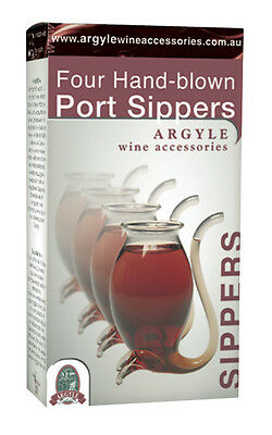 Port Sippers - Argyle Four Pack Set of Port Sippers