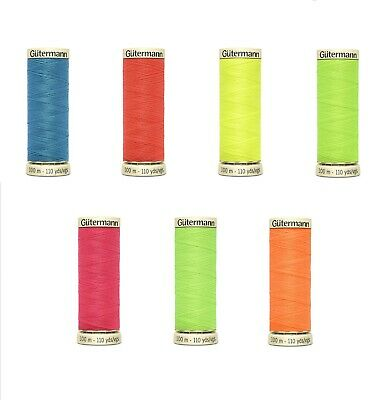 Gutermann Neon Sew-All Thread - 100m Reel -Buy 2 or More Reel's for 25% Discount