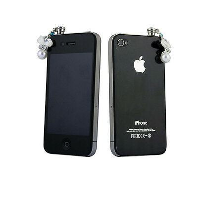 Earphone 3.5mm  Anti Dust Plug Crystal Butterfly Stopper for iPhone 5s 6 6Plus