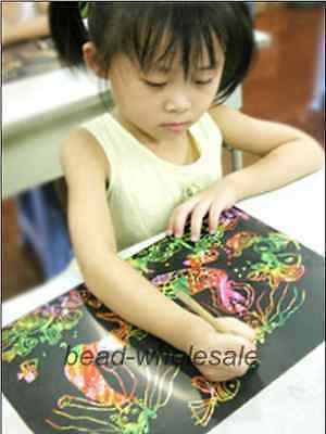 Bargain Colorful Scratch Art Paper Painting Paper Free Drawing Stick 10 Sheets