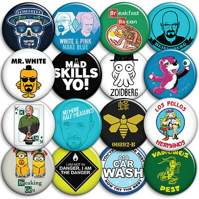 Breaking Bad - Choice of Badges - Button Badges - 25mm 1 inch - Heisenberg Pack