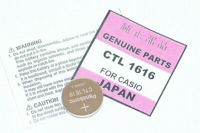 NEW Casio watch Capacitor CTL 1616 rechargeable battery GENUINE batteries