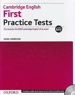 Cambridge English FIRST FCE PRACTICE TESTS with Key & 2CDs @New@ Exam from 2015