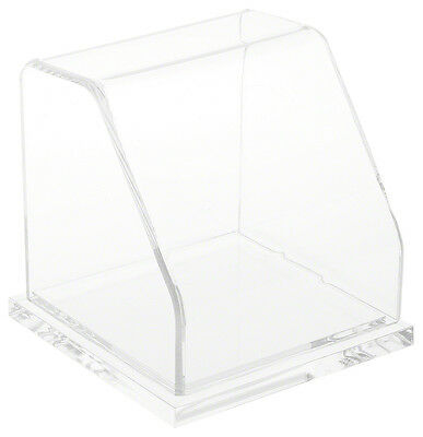 """Plymor Slanted Acrylic Display Case with Clear Base, 4"""" x 4"""" x 4"""""""
