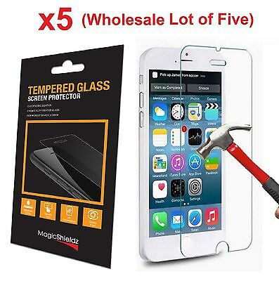 5x Wholesale Lot Tempered Glass  Screen Protector for Apple iPhone 6 Retail Box