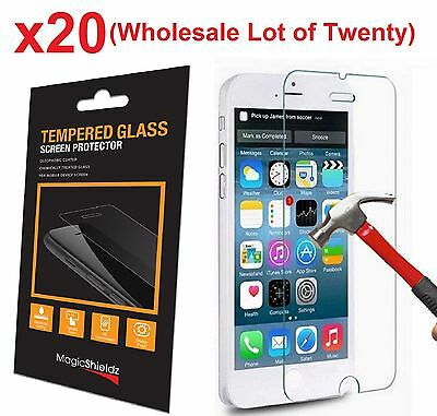 20x Wholesale Lot Tempered Glass  Screen Protector for Apple iPhone 6 Retail Box