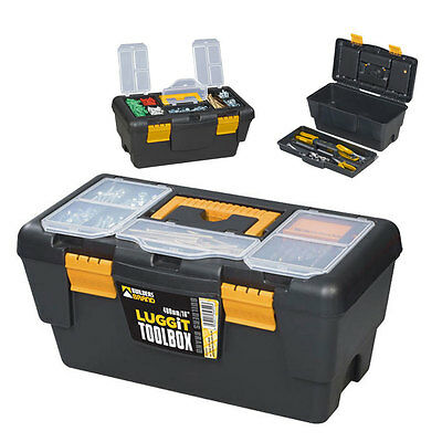 """NEW Tool Box Boxes Storage Case 16"""" - ToolBox Removable Tray DIY Tools"""