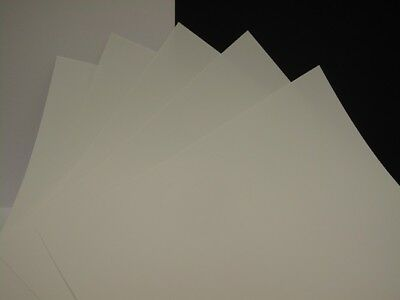 Polypropylene White A4 (210 x 297mm) x 5 Sheets 0.3mm or 0.4mm  Arts & Crafts