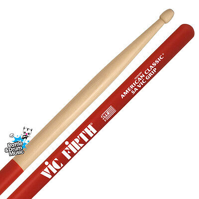 Vic Firth American Classic 5A Vic Grip Drum Sticks (1 Pair)
