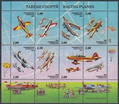 Turkmenistan stamp Airplanes minisheet MNH 2003 Mi 294-301 A WS155934
