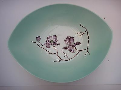 Carlton Ware Pottery Bowl with embossed flowers - 27cms long