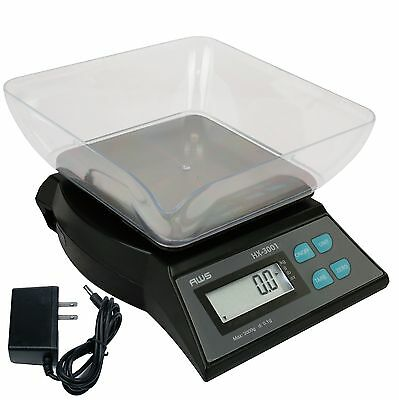 AWS HX-3001 Table Top Bench Bowl Scale 3000g x 0.1g AC Adapter American Weigh