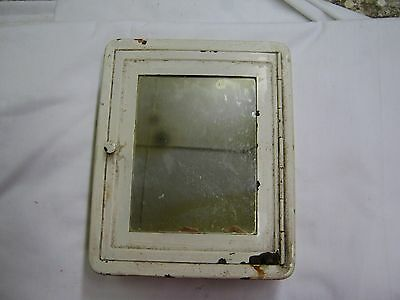 Antique Safetee Shaving Cabinet Mirror Small Old Vintage Bathroom 3877-14