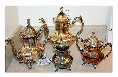 Vintage TOWLE Ornate Silver Plate Coffee Tea Service 5 pc Set