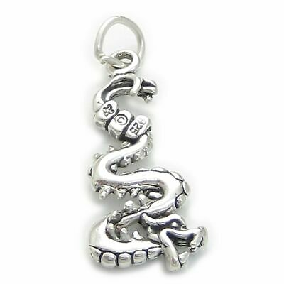 Dragon sterling silver charm .925 x 1 Dragons Mayan Chinese SSLP4256