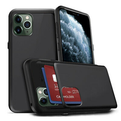 Hybrid NEO ShockProof Defender Card slot wallet case for iPhone 8 Plus 7 6s XS R