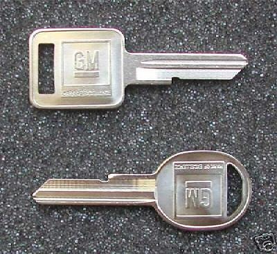 1969, 1973, 1977, 1981 GM Chevrolet Chevy Corvette Key blanks