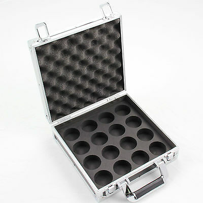 Hard Aluminium 2 Inch Pool Ball Carrying Flight Case - Holds 16 Balls Securely