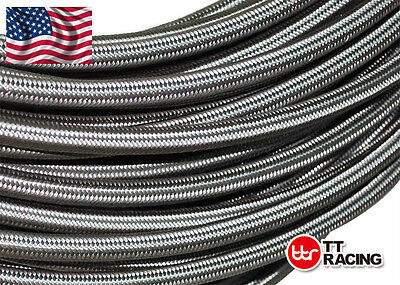 Braided Stainless Steel Hose AN3 AN4 AN6 AN8 AN10 AN12 For Fuel/ Oil/ Coolant