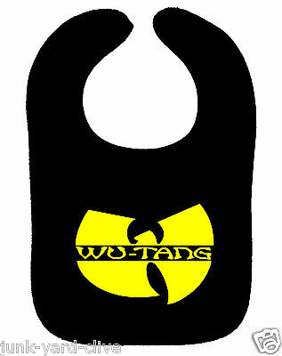 WU TANG CLAN BIB 90s RAP HIP HOP BIB METHOD MAN RZA ASST COLOURS NEW BABY BIB