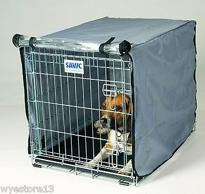 Savic Dog Cage / Crate Cover Nylon with transparent foldable door All Sizes