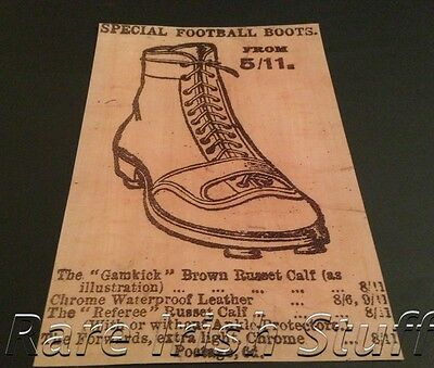 Irish Gaelic Sports First Advert For GAA & Hurling Studded Boots - Print