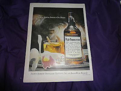 """1946 Old Forester Whiskey Vintage Magazine Ad """"There is none better on the..."""""""