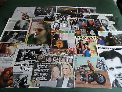Mickey Rourke - Film Star  - Clippings /cuttings Pack