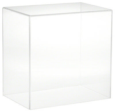 """Plymor Brand Clear Acrylic Display Case with No Base, 9"""" W x 6"""" D x 9"""" H"""