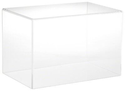 "Plymor Brand Clear Acrylic Display Case with No Base, 12"" W x 8"" D x 8"" H"