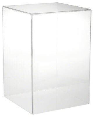 "Plymor Brand Clear Acrylic Display Case with No Base, 10"" W x 10"" D x 15"" H"