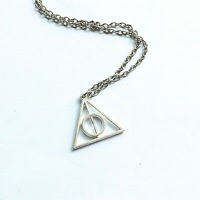 Brand New 1X Harry Potter The Deathly Hallows Necklace Pendant Charm HG45