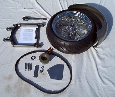 """2004-up XL Sportster 240 Wide Tire Swingarm Kit - 2"""" Extended, Incl. Wheel/Tire"""