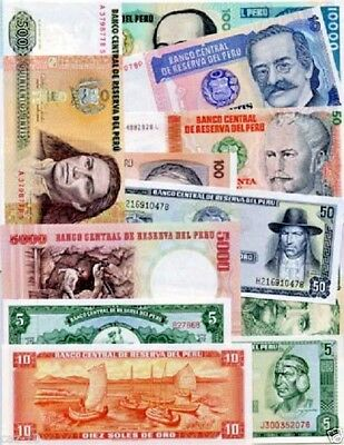 Peru Special Set Of 12 Different World Banknotes,Uncirculated Lot