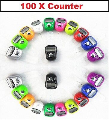 100 x DIGITAL FINGER RING TALLY COUNTER Row counter TASBEEH  JOB LOT Wholesale