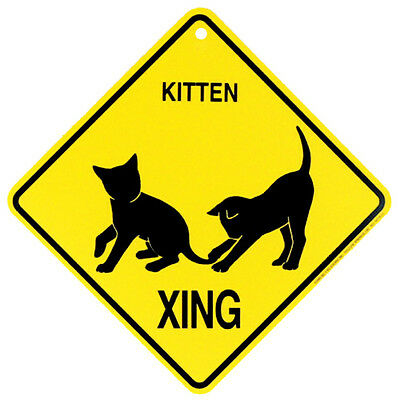 KITTENS Yellow Crossing Xing Sign NEW