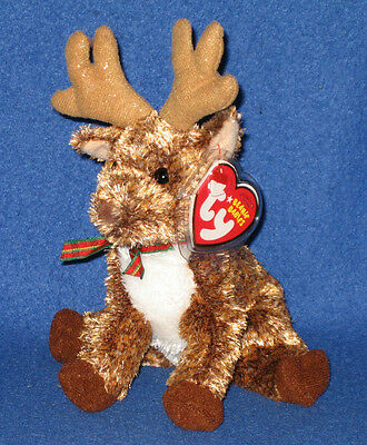 TY ROOFTOP the REINDEER BEANIE BABY - MINT with MINT TAGS