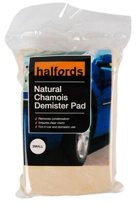 Halfords Natural Chamois Demister Pad Small Car Vehicle Cleaning Sponge Wiper