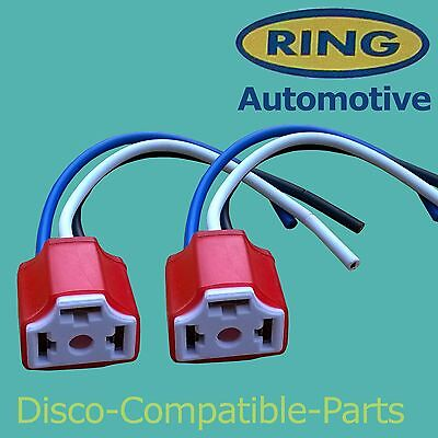 Land Rover Discovery 2, H4 Ceramic Headlight Connector Blocks x 2 By Ring