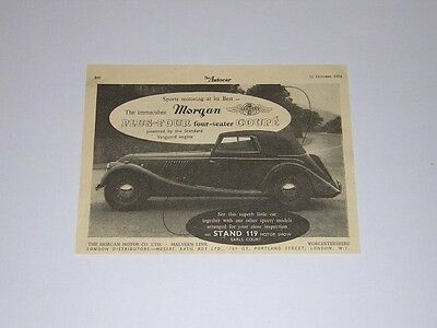 Morgan Plus Four four-seater Coupe Advert from 1954 - Original Advertisement - 4