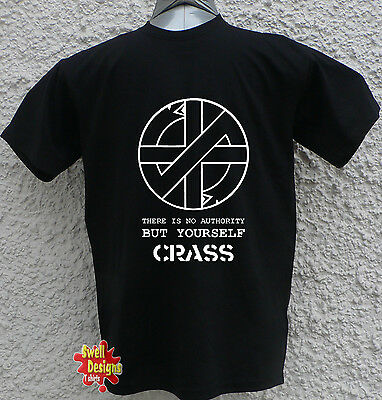 CRASS There Is No Authority But Yourself punk anarchy retro T Shirt All Sizes