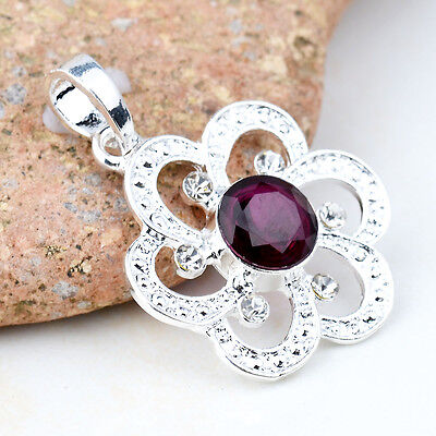 NEW Classic Amethyst Charming S80 Silver Necklace Pendant BXL-832