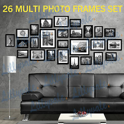 Photo Frames Multi Picture Wall Set 26 PCS 164cm x 74cm Home Deco Collage
