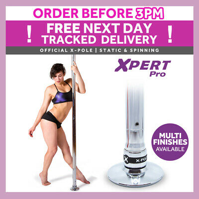 X-Pole Xpert - Chrome - 40mm/45mm/50mm - Professional Dance Pole - Spinning Pole
