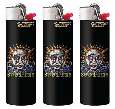 Bic Sublime Logo Design Lighters 3 Pack with 1 Brand New Sublime Logo Design