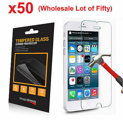 50x Wholesale Lot Tempered Glass  Screen Protector for Apple iPhone 6 Retail Box