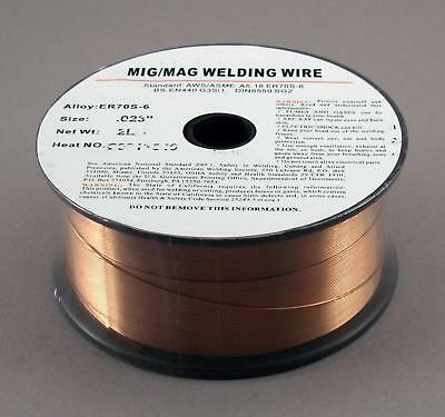 "2 lb Roll ER70S-6 .023"" Steel MIG Welding Weld Wire"
