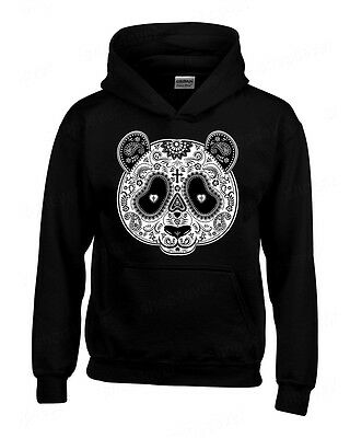 Sugar Skull PANDA Day of the Dead HOODIE funny Mexican Gothic hooded sweatshirt