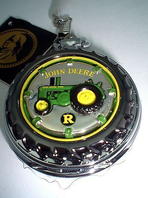 Franklin Mint John Deere Pocket Watch with Chain and Leather Case New NIB